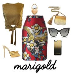 """Give me gold"" by tina-joplin ❤ liked on Polyvore featuring Dsquared2, Moschino, Giuseppe Zanotti, Gucci, Tom Ford, MICHAEL Michael Kors and Too Faced Cosmetics"