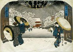 Schnee in Asakusa