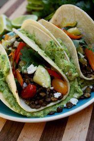 Loaded Lentil Tacos - crockpot recipe