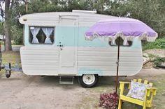Vintage Retro 12ft Vacation Caravan Camper Trailer RV ~ Art Craft Studio Chic Weekender Home Office ~ Ebay