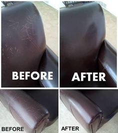 How to remove scratches from leather furniture surface step by step DIY tutorial. How to remove sc House Cleaning Tips, Diy Cleaning Products, Cleaning Solutions, Spring Cleaning, Cleaning Hacks, Car Cleaning, Couch Cleaning, Clean Freak, Toilet Cleaning