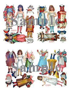 Paper Doll _ Vintage Model Book of Paper Dolls _ Sets 1 & 2 _ PDF _ Digital Download _ Paper Art Dolls + BONUS Booklets on Etsy, $6.99