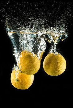 High speed photography. I like how this photographer used three lemons. Always do one or three.