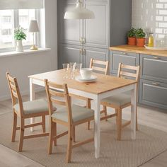 LERHAMN Stolička, svetlé moridlo, patina, Vittaryd béžová - IKEA