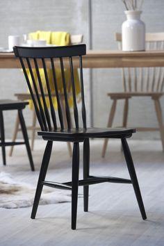 Sedia Melo colore nero. Interstil. Nordic Design.