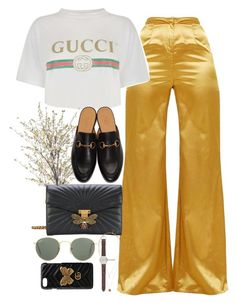 """""""Untitled #2137"""" by roxy-camarena ❤ liked on Polyvore featuring Gucci, INC International Concepts, Ray-Ban, J.Crew and H&M"""