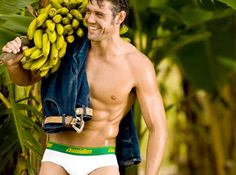 AussieBum Banana Underwear Made from Bananas. Really? Well, I guess that would take care of your potassium needs!!
