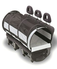 don't think I would get or use this but very interesting, pet tube car kennel #dogs #kennel