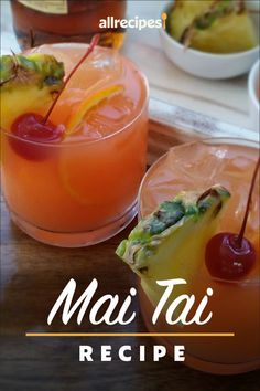 "Mai Tai | ""Two flavors of rum combine with pineapple juice and orange juice to make a yummy, fruity drink."" #drinks #drinksrecipes #drinkrecipes Pineapple Rum Drinks, Fruity Drinks, Smoothie Drinks, Pineapple Juice, Smoothies, Party Drinks, Fun Drinks, Cold Drinks, Alcoholic Drinks"