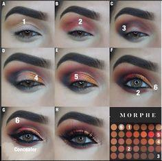 New makeup palette morphe 350 Ideas Paleta Morphe, Morphe Eyeshadow, Makeup Morphe, Eyeshadow Looks, Skin Makeup, Beauty Makeup, Morphe 350 Palette Looks, Morphe Palette, Morphe 35o Looks