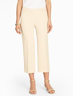 Refined Crepe Crop - Talbots