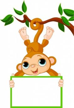 Illustration of Cute baby monkey on a tree holding blank sign vector art, clipart and stock vectors. Cartoon Cartoon, Cartoon Monkey, Cartoon Images, Cartoon Characters, Cartoon Picture, Monkey Template, Cute Baby Monkey, Cute Funny Cartoons, Blank Sign