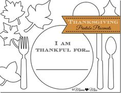 Printable Thanksgiving Placemats (Mama Miss Blog)