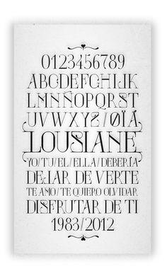 Lousiane / neo art nouveau type specimen by JuanJo Rivas del Rio, via Behance