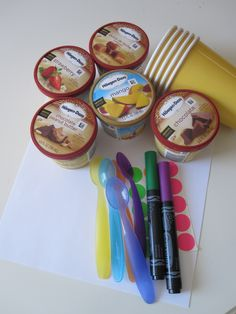 Ice cream taste test activity for kids. Simple, fun way of exploring the senses!