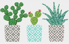 Cactus cross stitch pattern Geometric cross stitch pattern Natural embroidery sampler Flower, floral cross stitch PDF printable Modern Gift - DIY and Crafts Cactus Cross Stitch, Small Cross Stitch, Cute Cross Stitch, Modern Cross Stitch, Cross Stitch Flowers, Cross Stitch Geometric, Embroidery Sampler, Embroidery Hoop Art, Easy Cross Stitch Patterns