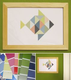 Schnipselfisch aus Farbmusterkarten
