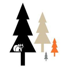 Stromečky - sada samolepek na zeď - Pieris design Sad, Design