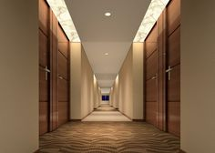 hotel design   Fashion contracted corridor chain business hotel design   3D house ...