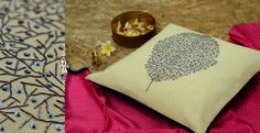 Rich yet pocket friendly, royal yet simple... these designs are tailored for your desired Mughal royalty. Copper and silken threads replacing gold and silver, making Zardozi far more easily available and accessible to you .... #Rajasthan  #HomeDecor #Embroidery #Cushion http://shop.gaatha.com/buy-designer-home-decor-cushion-cover