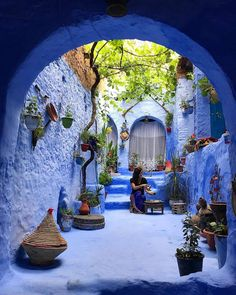 The Blue Pearl 🦋 Chefchaouen, Morocco. Photo by Tag someone you would share this trip with 💙 Chefchaouen Morocco, Pinterest Foto, Places To Travel, Places To Go, Moroccan Garden, Morocco Travel, Blue City, Outdoor Gardens, Travel Inspiration