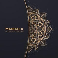 Luxury Background, Flower Background Wallpaper, Flower Backgrounds, Poster Background Design, Background Patterns, Vector Background, Mandala Drawing, Mandala Art, Mandala Pattern
