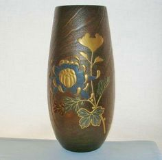 EXTRAORDINARY Large MUSEUM QUALITY Japanese HP LACQUER Wood VASE Hand Carved OLD