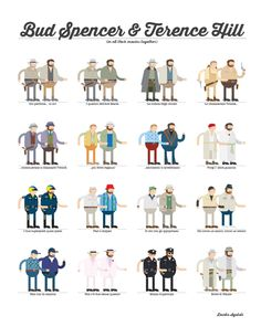 Bud Spencer & Terence Hill (in all their movies) on Behance