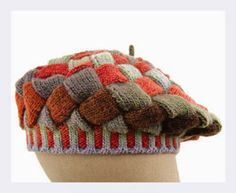 How to Knit an Entrelac Tam by Mary Scott Huff/ have to try this is crochet entrelac as that is easier that knitted entrelace Knitting Stitches, Knitting Patterns Free, Knit Patterns, Free Knitting, Free Pattern, Knitted Headband, Knitted Hats, Knit Crochet, Crochet Hats