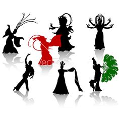 China dance vector on VectorStock