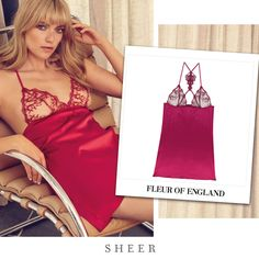 Fleur of England DARE SILK BABYDOLL from SHEER
