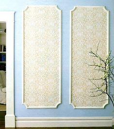 DIY wallpaper panel