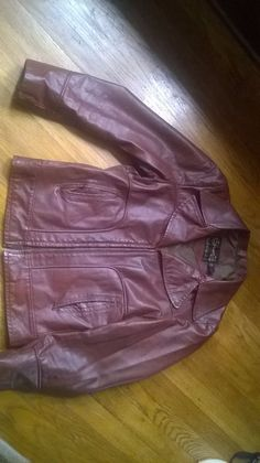 VINTAGE LEATHER SHOP SEARS MENS SIZE 38 REG OXBLOOD LEATHER JACKET fight club in Clothing, Shoes & Accessories, Vintage, Men's Vintage Clothing | eBay