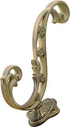 5-3/4 In. Art Nouveau Blonde Antique Hook (BPP2133-BOA)