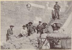 Les Matelassiers sur le bas-port du quai de la Pêcherie à Lyon, au début du XXe siècle