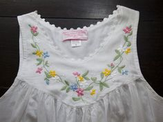 The Grommet team discovers Haiti Projects Nighties; beautifully hand embroidered cotton nightgowns made by a group of women in Haiti. Frocks For Girls, Little Girl Dresses, Girls Dresses, Embroidery On Clothes, Embroidery Dress, Baby Girl Patterns, Kids Dress Wear, Kids Frocks Design, Sleeves Designs For Dresses