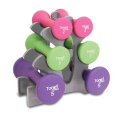 Tone Fitness - Hourglass Dumbbell Set, 20lb - http://www.fitnessdiethealth.net/tone-fitness-hourglass-dumbbell-set-20lb/  #fitness #diet #health