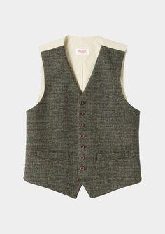Harris Tweed Birdseye Check Waistcoat by Toast Mens Tweed Waistcoat ea25cff0bf20