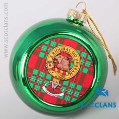 MacGregor Clan Crest Christmas Ornament. Free worldwide shipping available