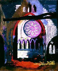Redland Park Congregational Church, Bristol, 1940 by John Piper (English John Piper Artist, Architecture Collage, Landscape Architecture, Collages, A Level Art, Urban Art, Modern Art, Art Projects, Abstract Art