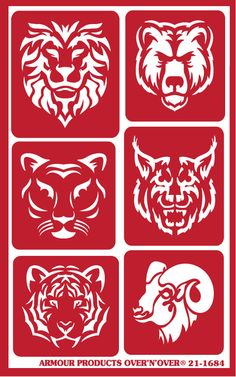 Armour Products Wild Things 4 pak Glass Etching Stencil