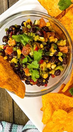 Texas Caviar. Or some may call it Cowboy Caviar. It's a hearty bean dip/salad with Tex-Mex spices with a zip from jalapeno, garden freshness from avocado, bell pepper and sweet corn, and a tang from a light lime and balsamic vinegar dressing. #bbqsidedish #beandip #summer #dinnerideas Texas Caviar, Cowboy Caviar, Balsamic Vinegar Dressing, Roasted Shrimp, Side Dishes For Bbq, Bean Dip, Peppers And Onions, Barbecue Recipes, Sweet Corn
