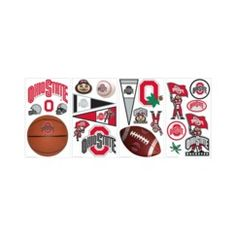 Roommates NCAA Ohio State Wall Decals