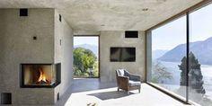 Inspiratie: een betonnen villa in de Zwitserse bergen