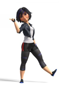 Look at how Disney made her. Short with larger thighs and interesting hair but they didn't make her a bad character. She is one of the strongest Disney women out here. I am in love with Gogo