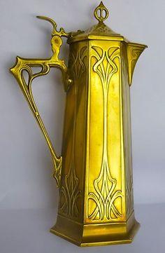 Outstanding WMF Secessionist Art Nouveau Jug, Pitcher