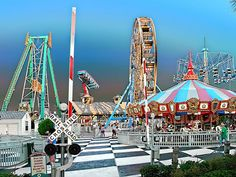 Amusement park by Charles Corley, via Flickr