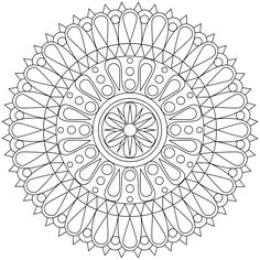 Don't Eat the Paste: New Mandala Coloring Page