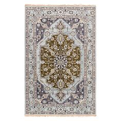 "Evgenia 5'6"" X 8'6"" Hand Knotted Floral Rug"