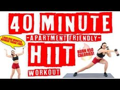 40 Minute Apartment Friendly HIIT Workout Burn 450 Calories! - YouTube